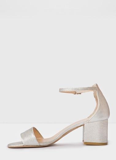 Aldo Villarosa-Tr - Gümüş Kadin Topuklu Sandalet Ten